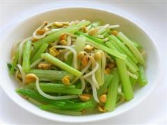 芹菜拌黄豆芽