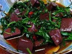 时菜烩猪红
