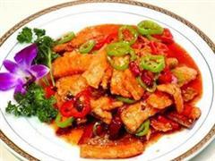 葱椒炝鱼片