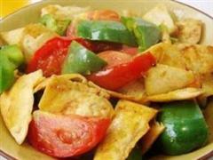 青椒番茄豆腐干