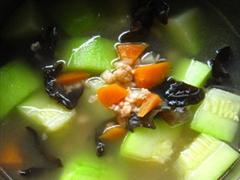 西葫芦虾汤