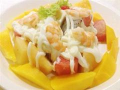 香芒大虾沙律
