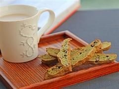 意式抹茶红豆脆饼