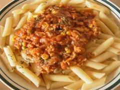 番茄酱鸡肉意大利面