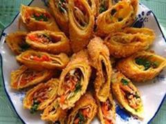 脆皮蕨菜卷