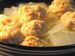 丸子津菜汤