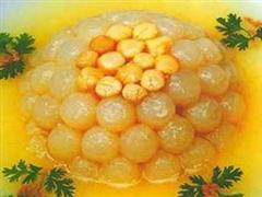 干贝萝卜球