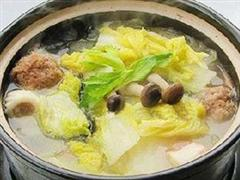 沙锅白菜猪肉汤