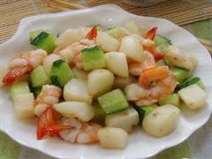 炒马蹄凤尾虾