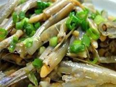 白炒鲜竹蛏