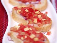 番茄奶酪烤法棍
