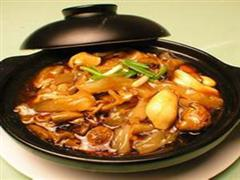 猪杂三鲜砂锅