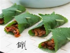 苏叶辣白菜烤肉包