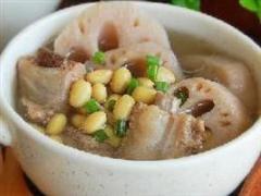 莲藕黄豆排骨汤