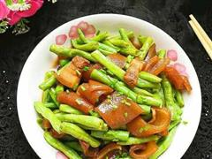 猪皮炒豆角