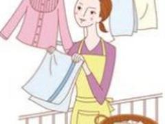 洗衣服,叠衣服,晾衣服(站着)
