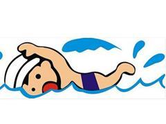 游泳,在湖、河或海里